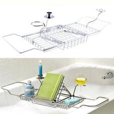 New Metal Bath Caddy Bathtub Reading Stand Rack Adjustable Wine Book Holder Tray
