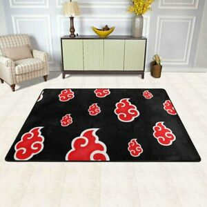 NARUTO0 Akatsuki Rugs Anti-Skid Area Rug Living Room Bedroom Floor Mat Carpet