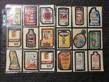 1970's Vintage WACKY PACKAGES Topps Stickers FN-/FN LOT of 23 Crust Lova Drowny