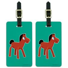 Pokey Gumby's Horse Pony Pal Friend Luggage ID Tags Carry-On Cards - Set of 2