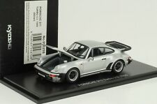 1988 Porsche 911 930 Turbo 3.3 openable bonnet rear lid silber 1:43 Kyosho