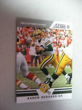 2012 Score AARON RODGERS scorecard parallel GREEN BAY PACKERS California Bears