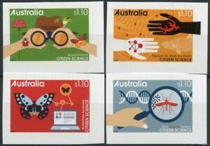 Australia Citizen Science Stamps 2020 MNH Butterflies Frogs Lizards 4v S/A Set
