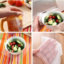 Kitchen Reusable Silicone Food Storage Wraps Cover Seal Saran Stretch and Fresh