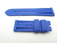Panerai ELECTRIC BLUE RUBBER strap REGULAR size 24mm / 22mm 125 / 75mm TANG ONLY