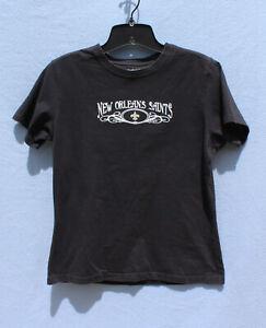Girls L T-Shirt Black New Orleans Saints