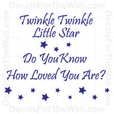 Twinkle Little Star Do You Know How Loved Are Nursery Vinyl Wall Art Decal B29