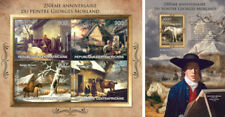 Art George Morland England Paintings Gemälde Central Africa MNH stamp set