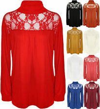 Polo Neck Party Stretch Floral Tops & Shirts for Women
