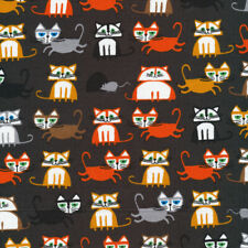 Organic Cotton Fabric, Cats from Favourites by Ed Emberley Cloud9 Quilters