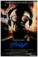 THIEF Movie POSTER 27x40 James Caan Tuesday Weld Willie Nelson James Belushi