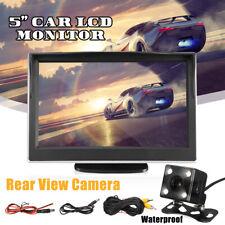5'' TFT LCD Monitor Car Backup Camera Rear View Parking System Night Vision Kit