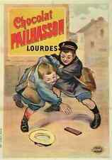 More details for metal sign chocolat pailhasson 1 1910s french lourdes candy children a3 16x12