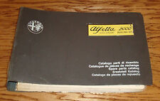 Original 1975 Alfa Romeo Alfetta 2000 Berlina GT Spare Parts Catalog 75