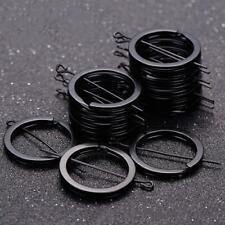 12Pcs Keyring Flat Split Key Rings 25mm Nickel Metal Plated Steel Hoop Loop Ring