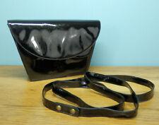 BALLY black patent leather clutch handbag / shoulder bag with detachable strap