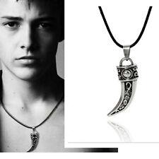 Stainless Steel Men Retro Titanium Pendant leather Necklace