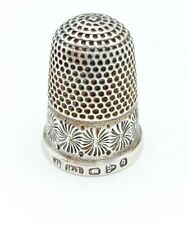 More details for sterling silver chester thimble hallmarked robert pringle 1899 size 10