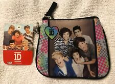 1D One Direction Plaid Zippered Coin Purse with ID Holder & Key Ring  115