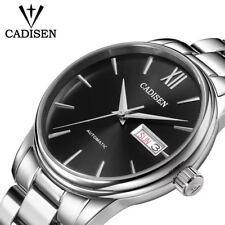 Top CADISEN Men Automatic Mechanical Watches Time Seiko NH36A Movement freeshipp