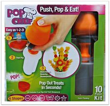 Pop Chef- 10 Piece Kit Food Decorator Create Shapes In Seconds AS SEEN ON TV