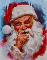 vintage art  Santa Clause 2 Christmas