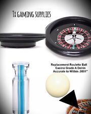 """18"""" ABS Acrylic Roulette Wheel - Steel Spinner With  2 Pill Ball & Table Marker"""
