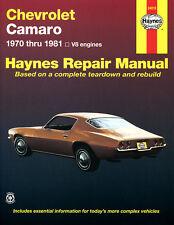 Reparación manual de Chevrolet Camaro 1970, 71, 72, 73, 74, 75, 76, 77, 78, 79 - 81