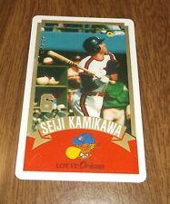 Older Japan Pro Baseball League Calling? Q Card - Seiji Kamikawa Lotte Orions