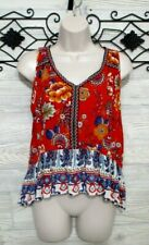 Women's  Patrons Of  Peace Top Size S Multicolored Floral Sleeveless
