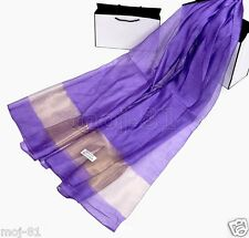 New Fashion Women's Long Soft Real 100% Silk Solid Scarf Wrap Shawl Stole