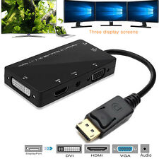 4in1 Monitor Multi Displayport DP to HDMI DVI VGA Display & Video Adapter Cable