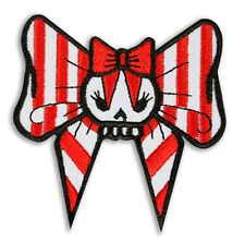 Patch brodé Noeud Pin-Up Lolita Rock'n'Roll Rockabilly Girl Kawaï Punk Rock Ska