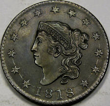 1818 Coronet Type Large Cent Very Choice Unc. MS++BN... Flashy, Super Nice, N-10