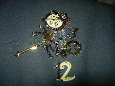 LUNCH AT THE RITZ VINTAGE 1986 PIN--SIGNED & DATED--REDUCED  2X--B54