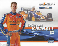 2013 CHARLIE KIMBALL NOVOLOG PEN #83 GANASSI NON NASCAR IZOD INDY CAR POSTCARD