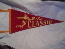 1940's,1950's ALL-STAR CLASSIC FOOTBALL FELT PENNANT,Leather Helmet,high school