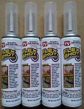 Lot of 4 Flex Shot Thick Rubber Sealant 8 oz EACH White Jumbo Can