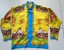 "GIANNI VERSACE ""Native Americans"" 1993 Vintage Silk Shirt -  Amazing ! Men's XXL"
