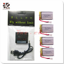 Hubsan X4 H107D H107C Quadcopter 4 in 1 Battery Charger /3.7V 380mah 20C Battery