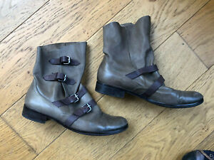 Boots BOCAGE point 38 cuir taupe marron