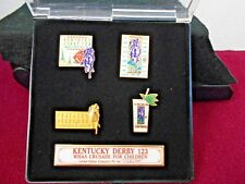 KENTUCKY DERBY 123 WHAS CRUSADE FOR CHILDERN LIMITED EDITION LAPEL PINS 1997 NEW