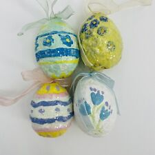 Teena Flanner Midwest Spring Egg Ornaments - Lot Of 4 Pre Owned Ornaments