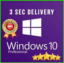 Instant WINDOWS 10 PRO PROFESSIONAL 32/64 BIT GENUINE LICENSE KEY ( 30 SEC )
