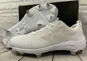 Under Armour Women's Glyde ST Metal Soccer Cleats White Size 8.5 New With Box