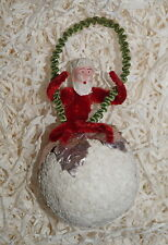 Chenille Santa on Spun Cotton Ball, ca. 1930    (# 7002)