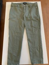 White House | Black Market Skinny Crop Green Jeans Size 10 *Pre-Owned*