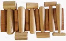 WOOD Swage Block U-Channel Dapping  Block with 6 Hammer Punches(DA19)