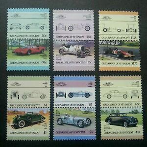 [SJ] St. Vincent Classic Cars 1986 Vintage Automobile Old Transport (stamp) MNH
