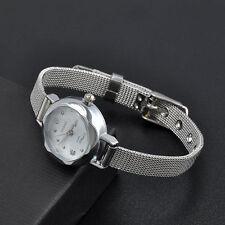 Ladies Fashion Huans Silver Quartz Elegant Bracelet Mesh Band Wrist Watch.